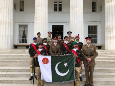 Pakistan Army team won the drill competition commonly known as All Arms and International Pace Sticking Competition