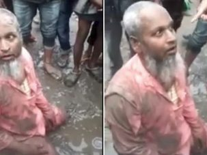 Eat pork or ready to die, An old Muslim thrashed by Hindu extremists