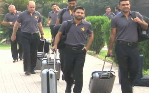 Pak cricket team squad depart for London