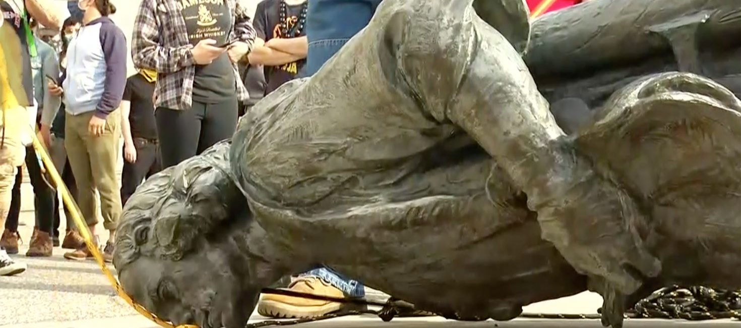 Baltimore Protesters pulled down statue of Christopher Columbus