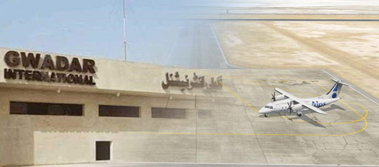 Construction work on Gwadar International Airport was in progress.Bajwa