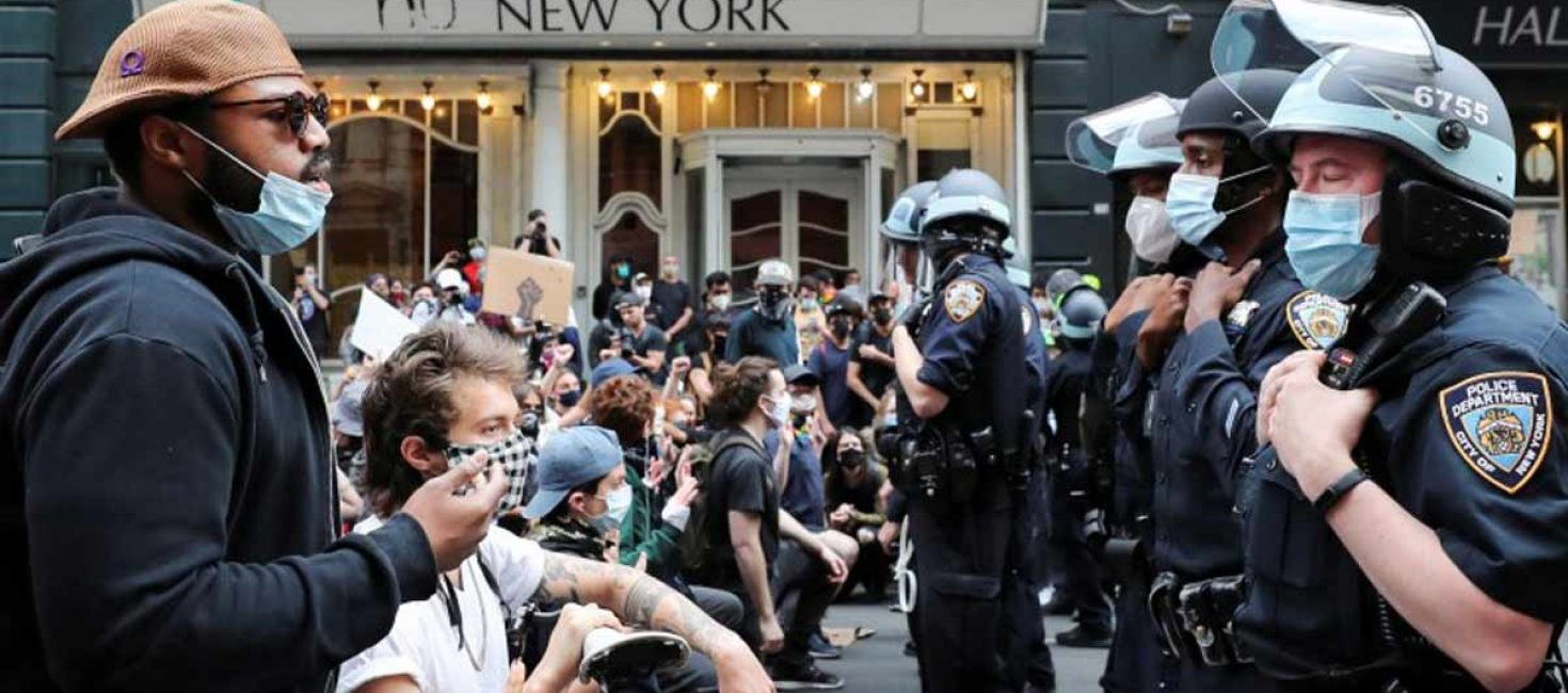 American police and security forces not use disproportionate force against protesters, says UN