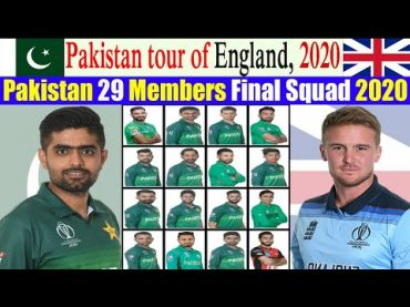 Pakistan shortlisted final squad of 20 players for three-match Test series against England.