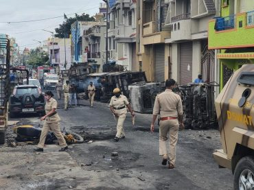"""After a """"derogatory"""" Facebook post about Prophet Muhammad (PBUH) Riots erupted in Bangalore"""